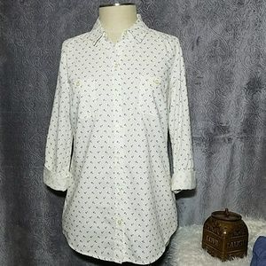 Old Navy Anchor Printed Shirt Small